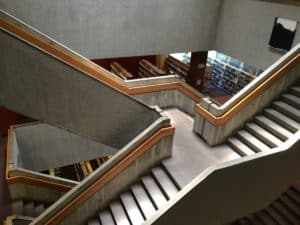 Central Library, stairway descending