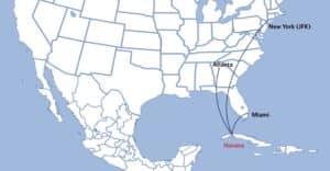Delta's tentative routes to Cuba