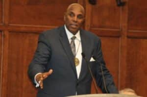 Gerald Durley, lecturn