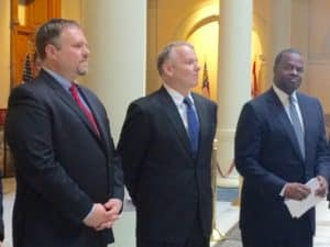 GE executives at Governor's press conference