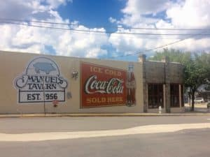 Manuel's Tavern Coca-Cola sign