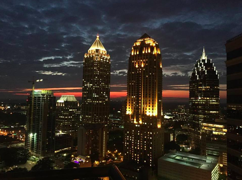 One of the prettiest sunsets yet over ATL by Ritu Verma