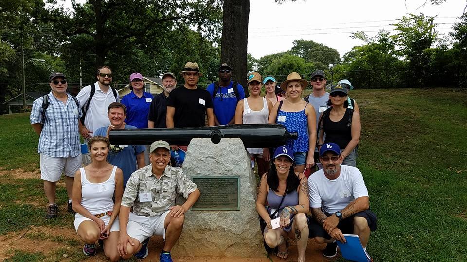 Urban Explorers of Atlanta visiting Ft. Walker in Grant Park on our Battle of Atlanta Walking Tour