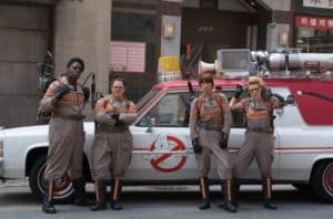 Ecto-1 makes its presence felt in the remake of 'Ghostbusters,' as it transports the team with their array of ghost-busting weapons. Credit: lyricis.fr