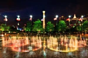 The relocated Olympic Cauldron could add to the dynamic tourist attraction now on show in Centennial Olympic Park. Credit: flicr.com
