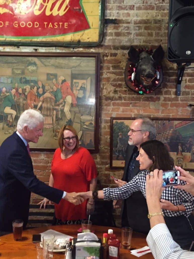President Bill Clinton at Manuel's Tavern (Credit Kelly Jordan)