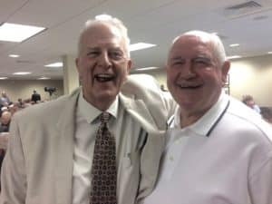 Former adversaries - Gov.. Roy Barnes and Gov. Sonny Perdue – appear to enjoy being together (Photo by Maria Saporta)