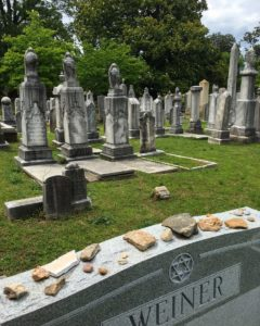 The Jewish Flats at Oakland Cemetery are to be restored with a grant from The Rich Foundation. Credit: Historic Oakland Foundation