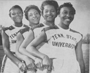 Left to right: Isabelle Daniels, Margaret Matthews, Barbara Jones, Lucinda Williams. Courtesy of Tennessee State University.