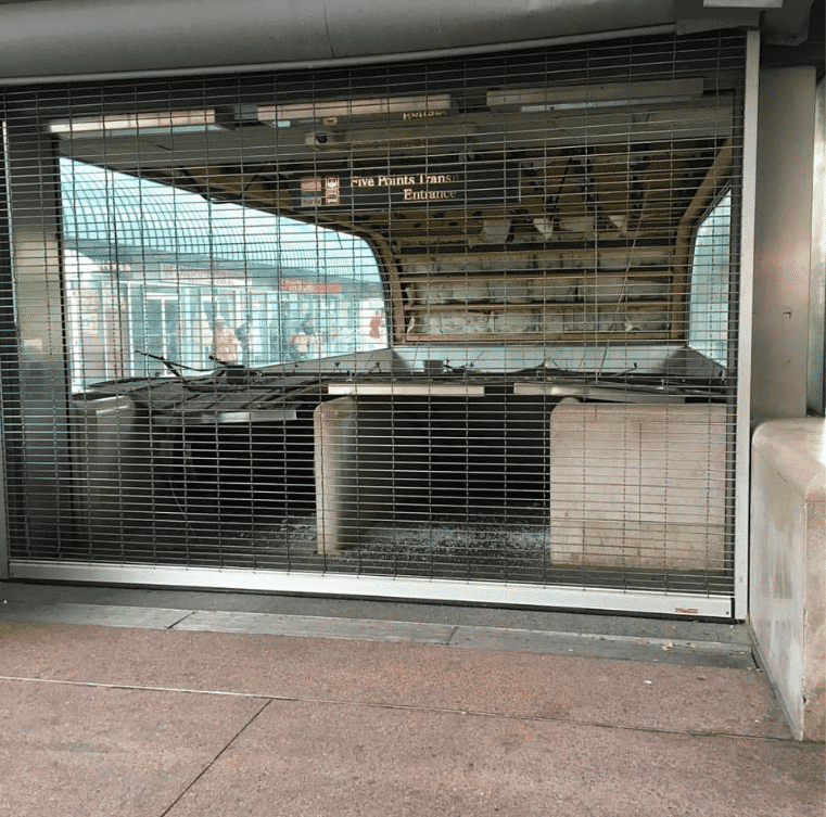 #tbt to the time Marta's ceiling collapsed at the Five Points Station entrance by Patrick Garman (Photo taken August 4th 2016)