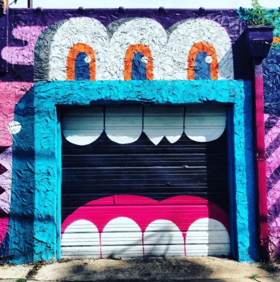 "Robin says ""Always worth it."" #streetart #graffiti #milesofsmiles #HowIHappy #WeLoveATL #SeenOnMyRun #Saturday #Run #Edgewood"