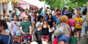 AJC-Decatur Book Festival crowd. Courtesy of the AJC-Decatur Book Festival