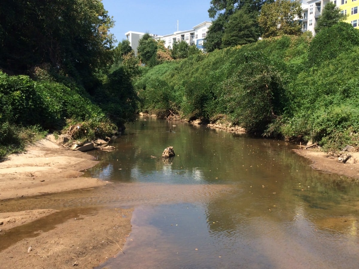 Peachtree Creek at confluence, 9:9:16