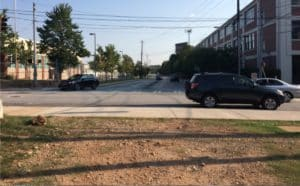 As Jennifer Schultz prepares to cross Memorial Drive and continue south on the Atlanta BeltLine's Southside Trail, she has to decide which side of