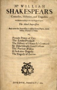 Third Folio (1664) title page. Courtesy of the Stuart A. Rose Manuscript, Archives, and Rare Book Library