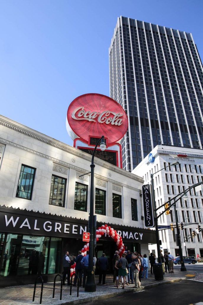 Grand Opening and Ribbon Cutting at new Downtown Atlanta Walgreens in historic Olympia Building (credit Robin Marshall)