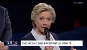 Trump Clinton debate 10/9/2016