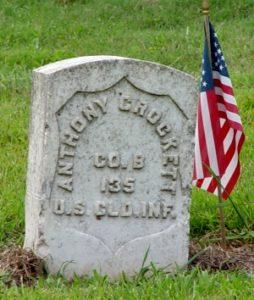 Grave of Anthony Crockett. Courtesy of Elyse Hill