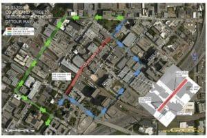 Courtland Street Detour Map
