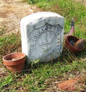 Grave of Holloway Crockett. Courtesy of Elyse Hill