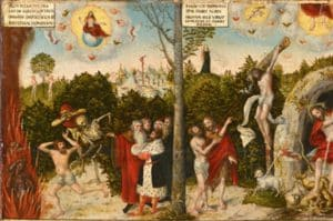 Law and Grace, Cranach, Martin Luther