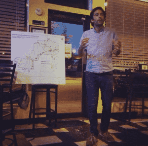 """Simon Berrebi of the MARTA Army launches """"Operation CleanStop"""" in East Point"""