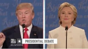 Trump, Clinton, debate