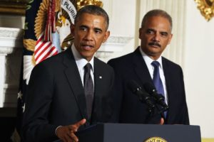 President Barack Obama (left) and former Attorney General Eric Holder plan a political effort that could have large ramifications.