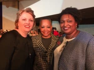 Kelly Dolan, Lisa Borders, Stacey Abrams