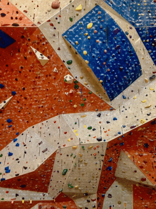 Climbing wall by Kelly Jordan