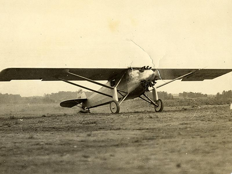 Spirit of St. Louis at Candler Field, Courtesy of Kenan Research Center at the Atlanta History Center