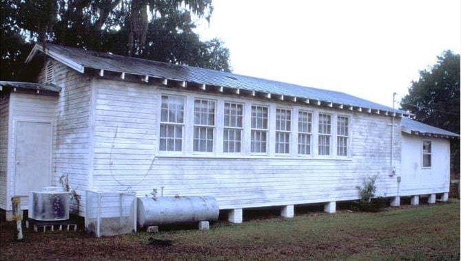 St. Luke's School served the Sapelo Island community of Hog Hammock. Courtesy of the Historic Preservation Division, Georgia Department of Natural Resources
