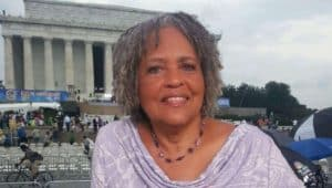 Charlayne Hunter-Gault was photographed at the Lincoln Memorial in 2004. Credit: Corbis via aarp.com