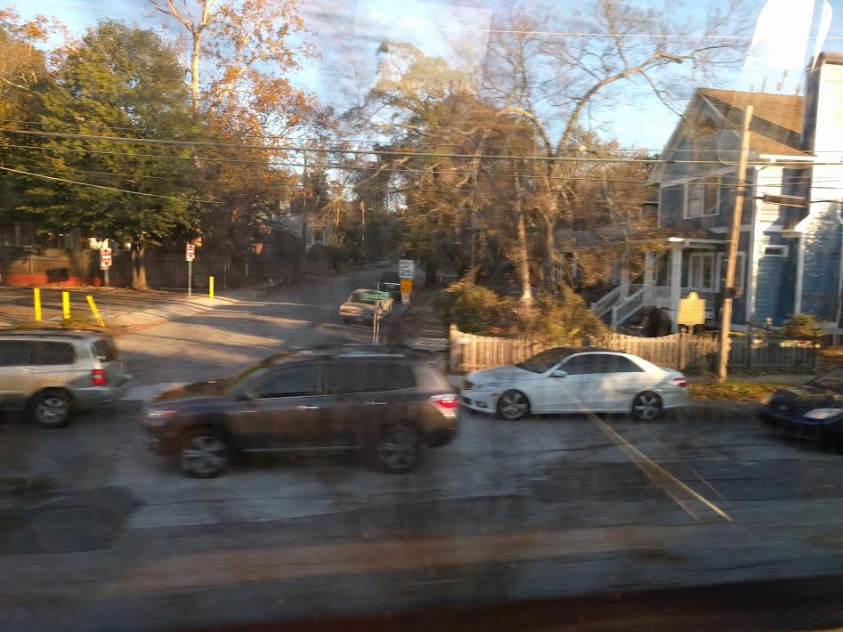 Congestion on DeKalb Ave, from a MARTA train by Carl Holt