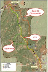 proposed train routes