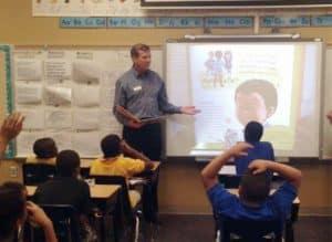 Fuller in classroom