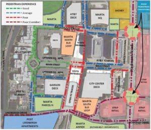 MARTA TOD lindbergh, pedestrian experience map
