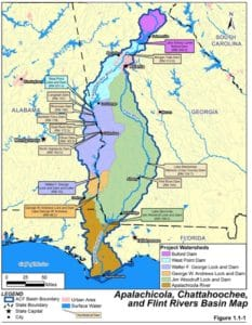 The new plan to manage water usage and drought response from North Georgia to the Gulf of Mexico is expected to be in place in early 2017. Credit: sam.usace.army