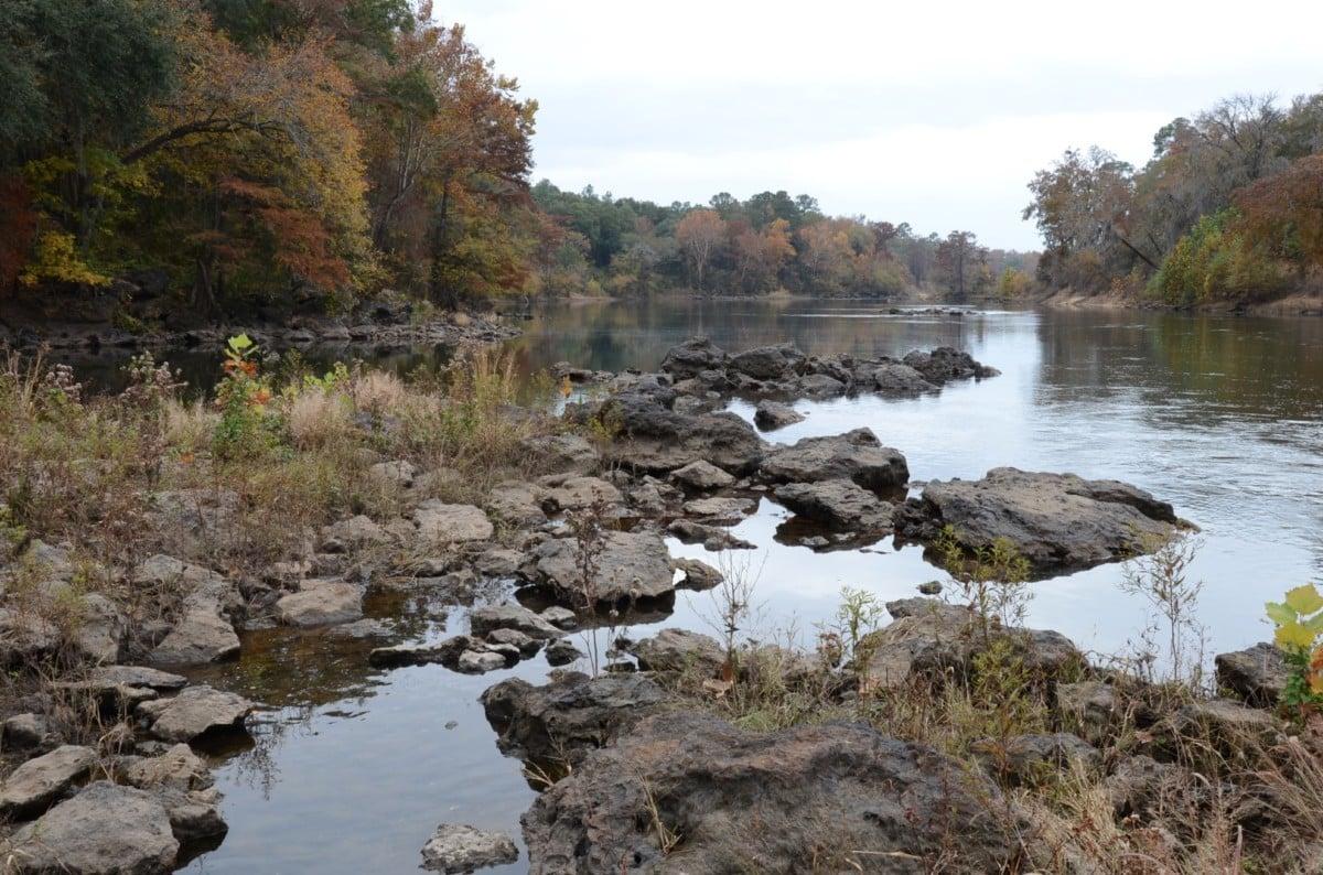 Flint River rock islands