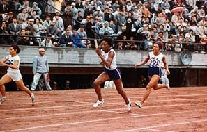 Despite her mother's objections, Wyomia Tyus became a runner; she's pictured here at the 1964 Tokyo Olympic Games. Photograph by Corbis