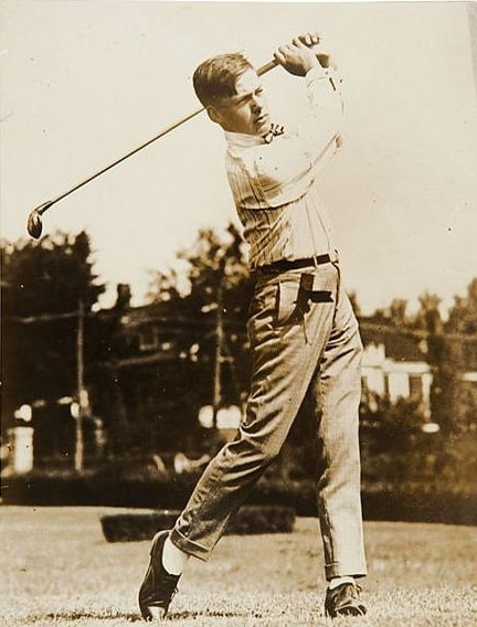 A sickly child, Bobby Jones became the world's greatest amateur golfer. Courtesy of Wikipedia