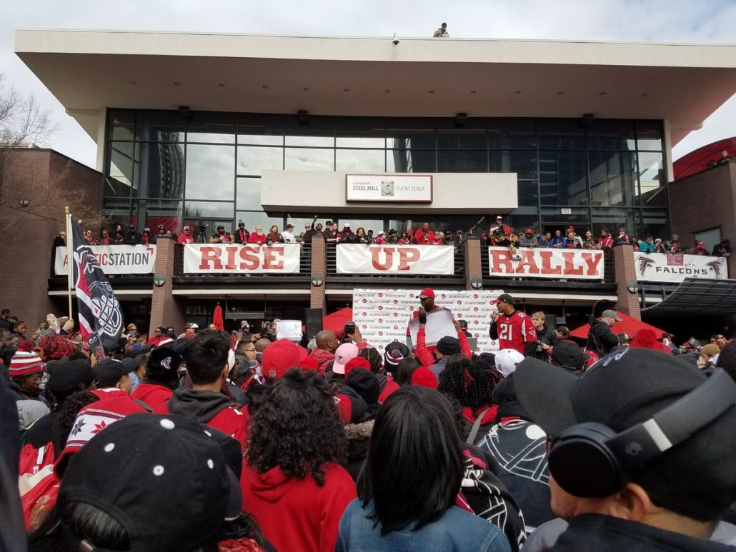 Jim Elgar ‏captured this image at the Rise Up Rally for the Atlanta Falcons this weekend.