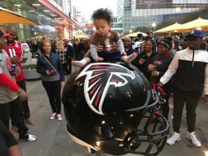 falcons helmet and chiold