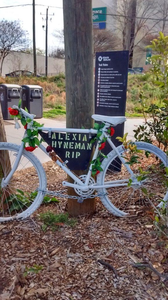 Alexia Hyneman ghost bicycle