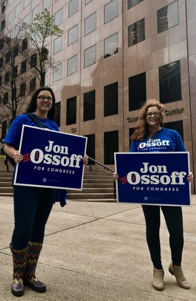 Jon Ossoff supporters