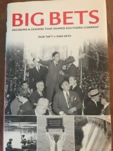 Cover of Big Bets book about the history of the Southern Co. (Shot by Maria Saporta)