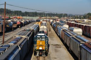 CSX to refit Tilford Hump Yard in Atlanta with machinery that requires fewer workers. Credit: Trains Magazine