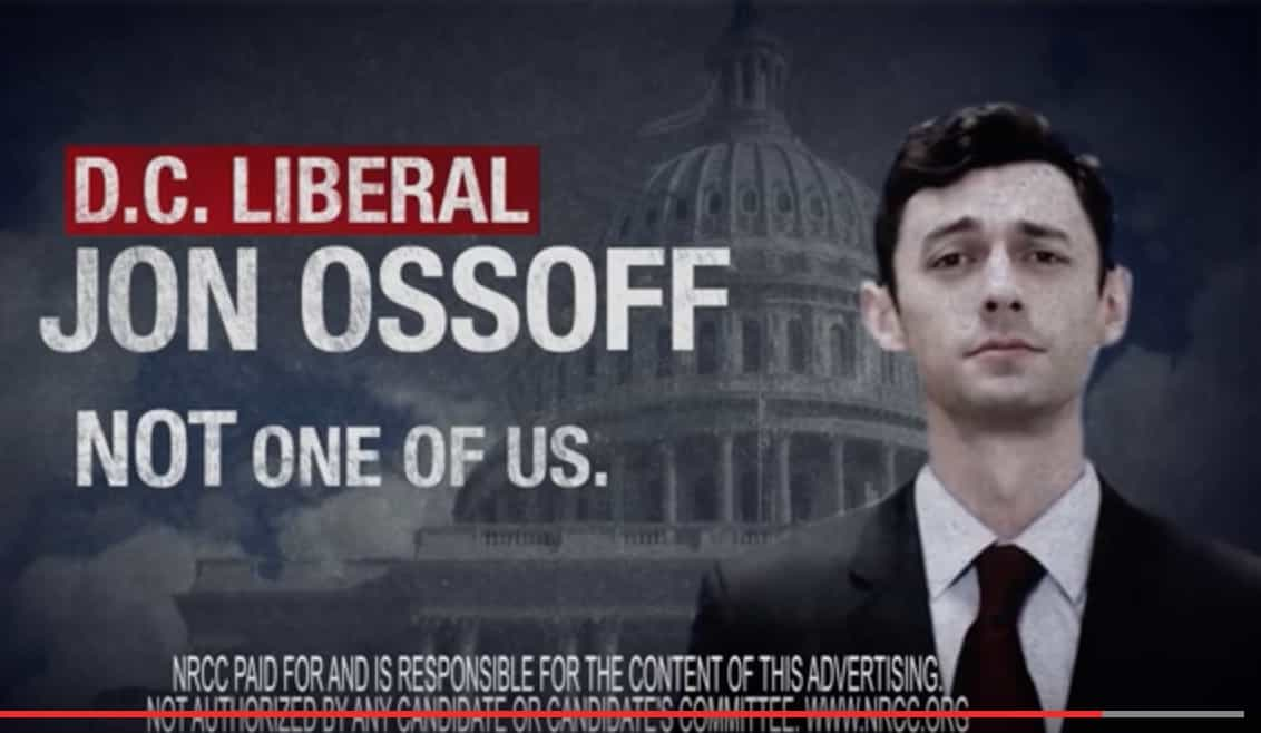 not one of us, ossoff