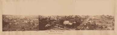 """""""View of Atlanta, Ga., October 1864, from the Female Academy,"""" by George N. Barnard (Library of Congress)"""