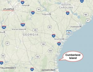 Cumberland Island, locator map